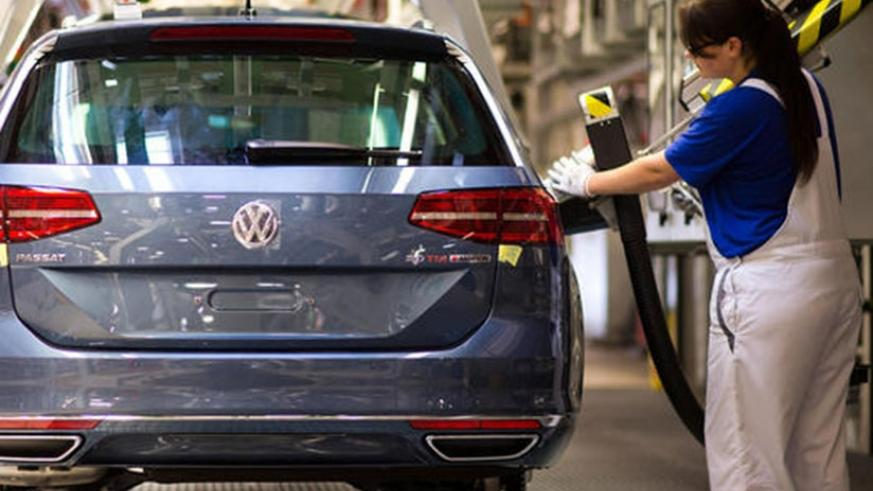 A Volkswagen Passat, one of the VW series in a manufacturing plant. The German carmaker will soon set up an assembly plant in Rwanda. (Net photo)
