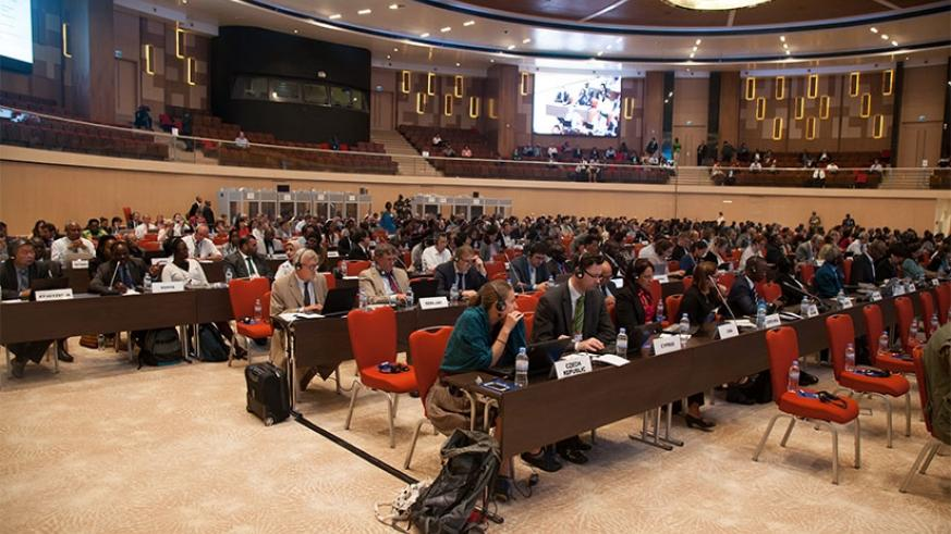 Delegates during Montreal Protocol meeting in Kigali. (File photos.)