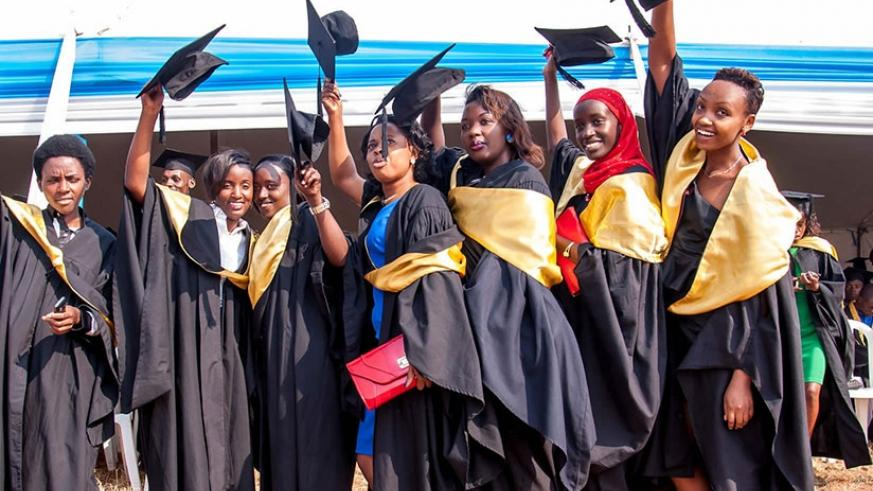 Graduands at a recent graduation ceremony. Rwanda has potential to grow education tourism. File.
