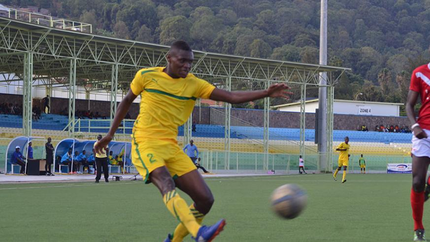 AS Kigali striker and top scorer Emmanuel Sebanani will be looking to add to his tally of six league goals when they face Kiyovu on Saturday. / Sam Ngendahimana