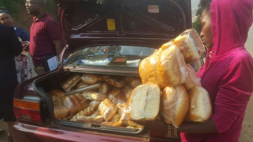 Loaves of bread were confiscated by REMA in addition to paying Rwf300,000 of fines. / Michel Nkurunziza