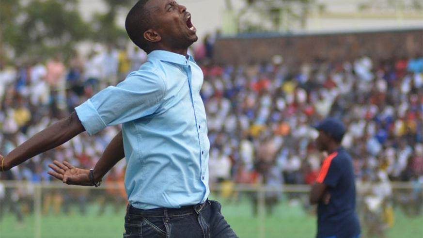 FRUSTRATED: Masudi was left ruing Rayon Sports' wastefulness in the goalless draw against Etincelles in the league on Sunday. S. Ngendahimana