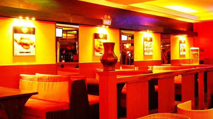 The restaurant lounge area. Photos by Michael Bageine