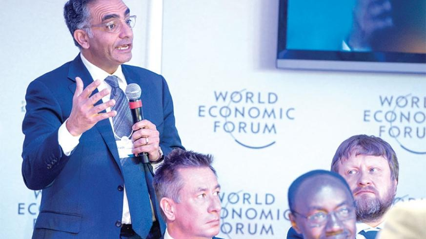 A participant asks a question WEF this week. Courtesy.