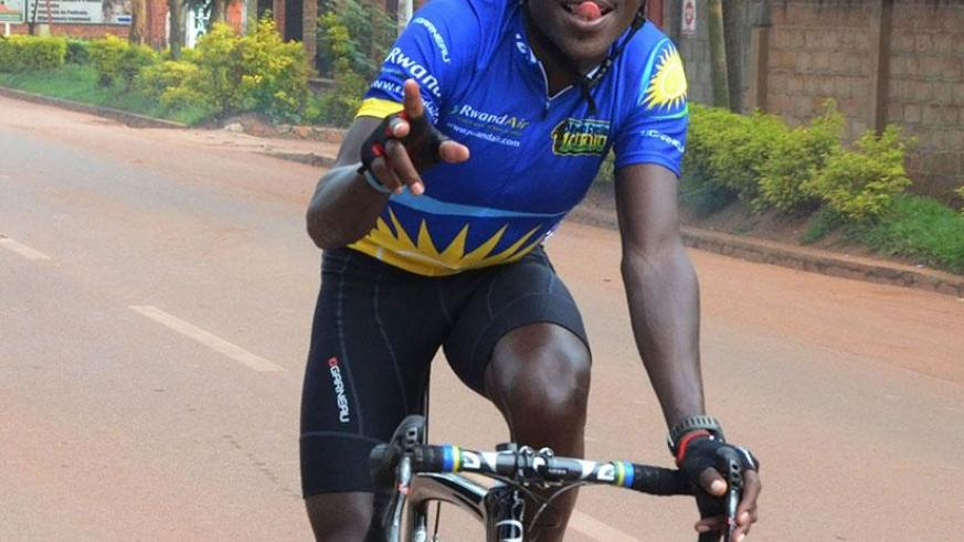 Gasore Hategeka won the 2016 Rwanda Cycling Cup and will be crowned after today's final race. File.
