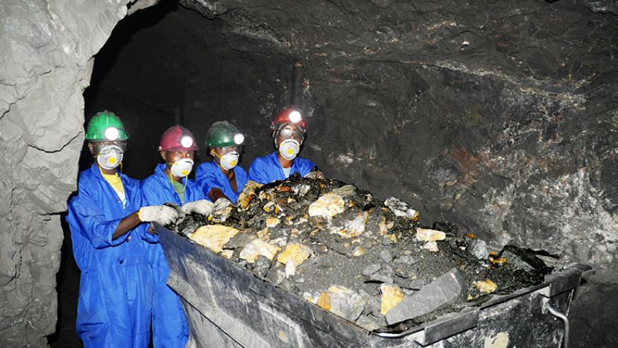 Wolfram miners in Northern Province. The Government is optimistic that by the end of the year, the country will be able to export processed minerals. Dr Emmanuel Munyangabe, the de....