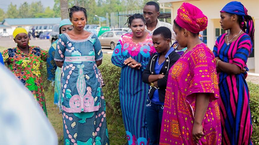 The victims are paraded before the media yesterday after they were rescued by Rwanda National Police. Faustin Niyigena.