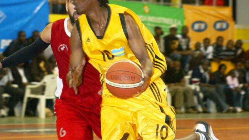 Canada-based Hamza Ruhezamihigo, seen here in a previous Zone V tourney held in Kigali, is one of pros being considered by the national team coach. (File)