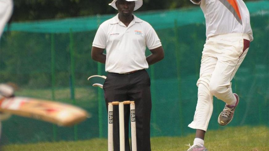 Ndorwa's first bowler Eric Hirwa, seen here in action during a previous game, believes his team is ready to have revenge on Challengers. File