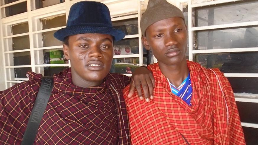 Two young Maasai men who live in Kigali. Steven Muvunyi.