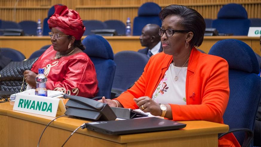 First Lady Jeannette Kagame attends the 18th General Assemby closed session of organisation of African First Ladies Against HIV/AIDS (OAFLA) in Addis Ababa, Ethiopia, yesterday.