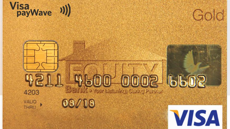 Cards are some of the tools that can help improve access to financial services. (File)