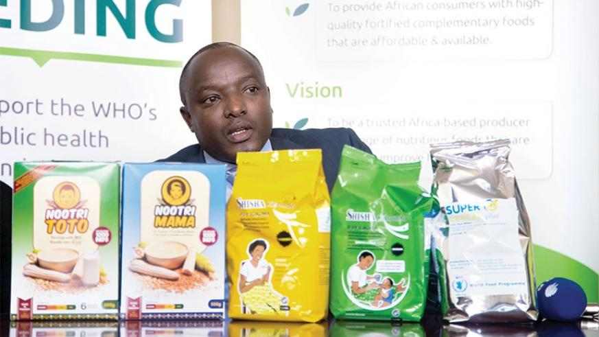 Prosper Ndayiragije, the country director of Africa Improved Foods-Rwanda, the firm that will produce and export fortified foods, speaks to this newspaper. Faustin Niyigena.
