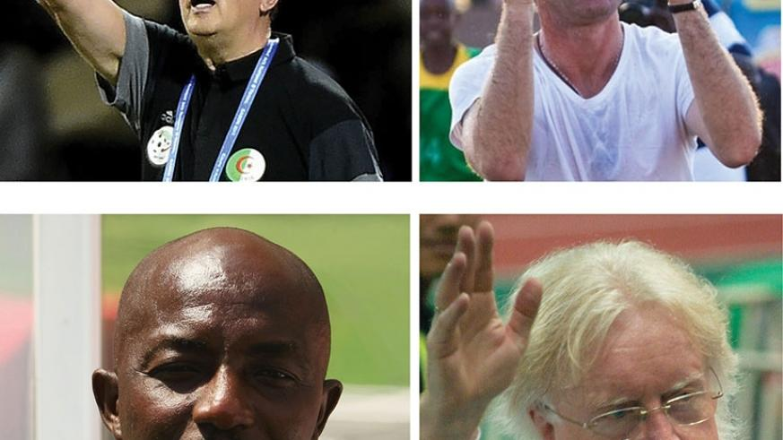 (TOP L-R): Georges Leekens and Didier Gomes da Rosa and below