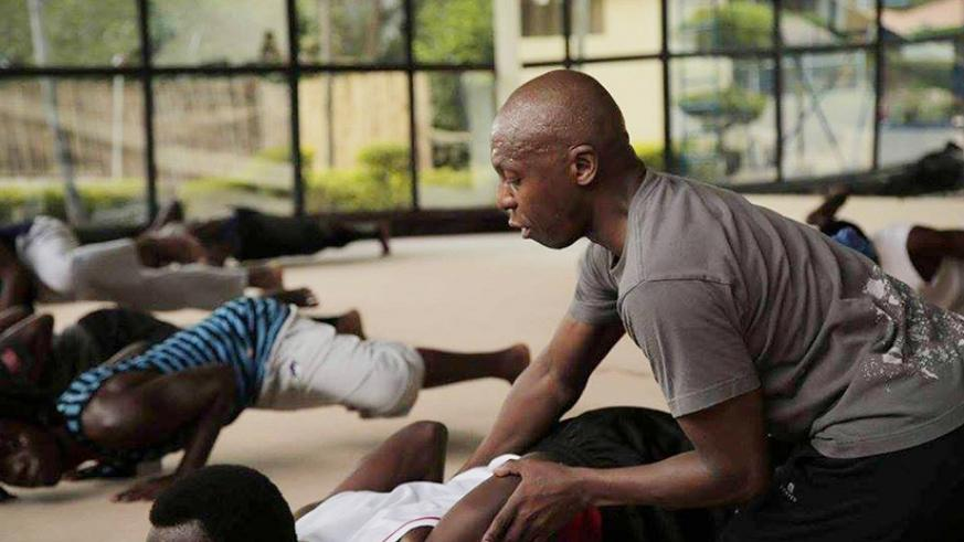 South African choreographer and dance mentor Mantsoe takes participants through the drills. Courtesy photo