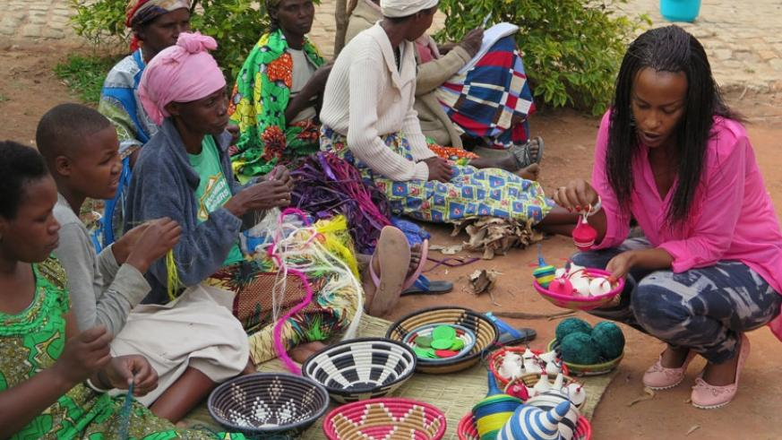 Craftpersons display some of their products at a Made-in-Rwanda Expo last year. (File)