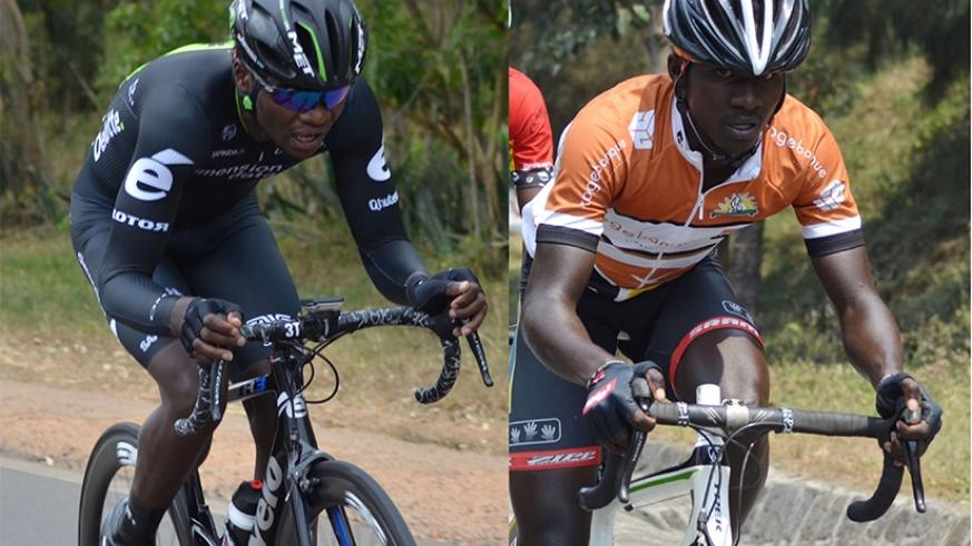 Bonaventure Uwizeyimana (L) and Rene Ukiniwabo (R) are the most experienced riders on the team. (S. Ngendahimana)