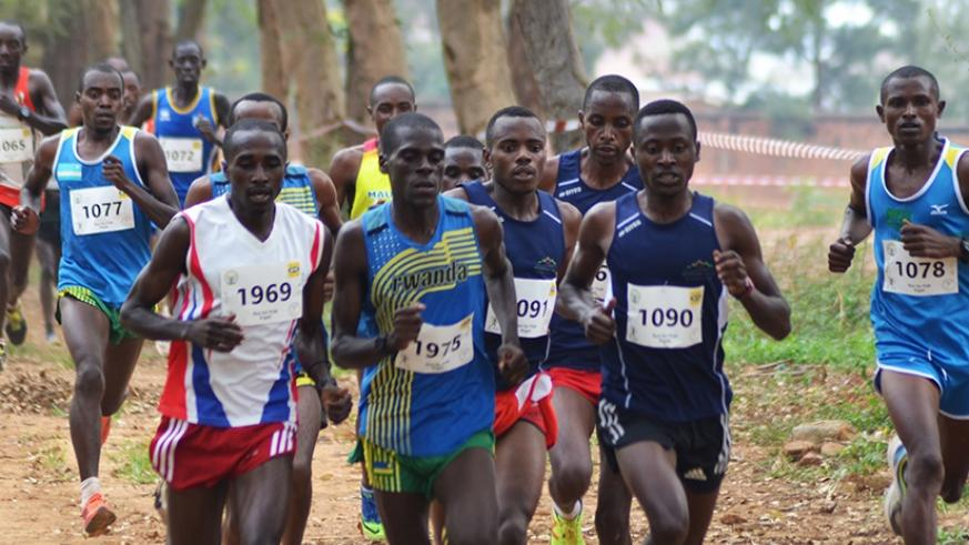 Local elite athletes competing in the national cross country championship recently. S. Ngendahimana