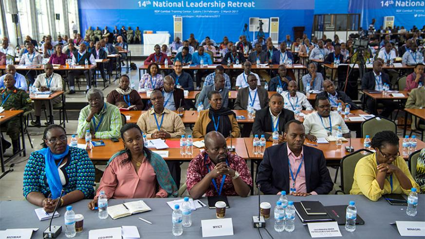 Leaders during the National Leadership Retreat. / Courtesy