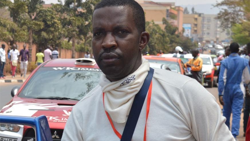 Jean Claude Gakwaya bowed out of Kabale Rally on day one. File.