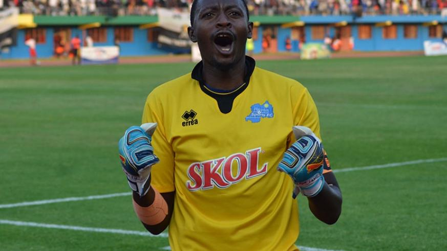 Bakame celebrates his team's victory after a past game. Sam Ngendahimana.
