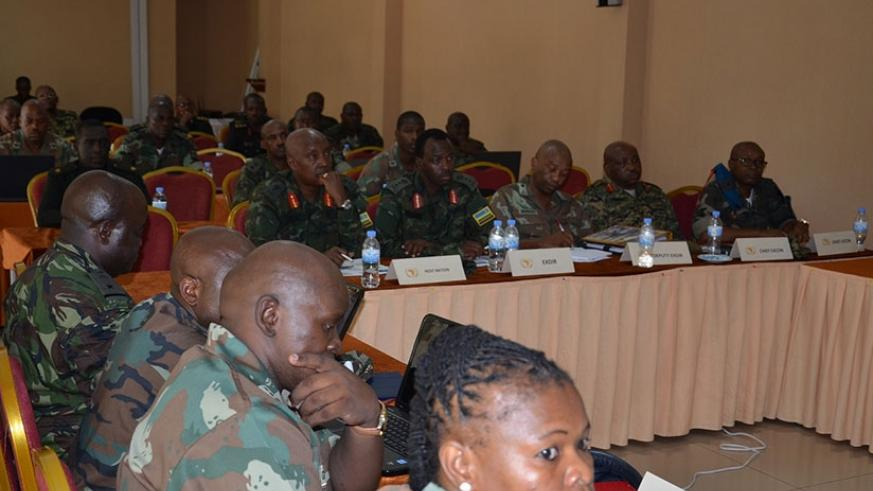 Armed forces from different African countries at the preparatory meeting of the exercise. Courtesy photo