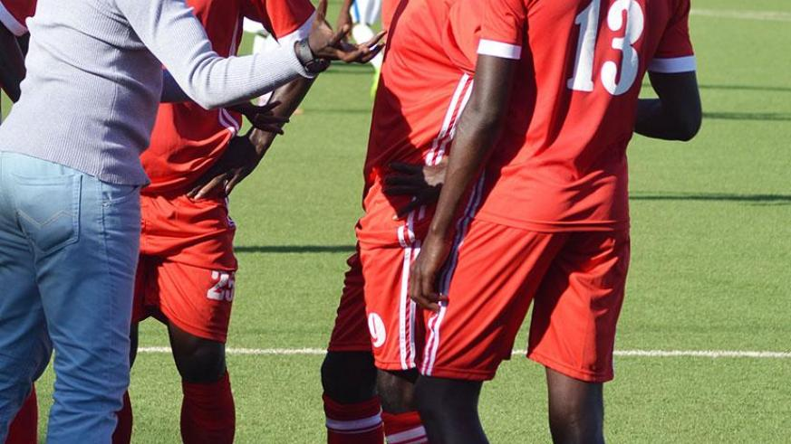 Habimana gives instructions to his players on the touchline during a past game. / Sam Ngendahimana