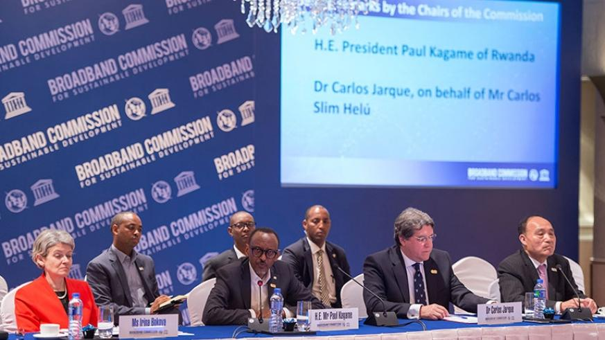 President Kagame chairs the Broadband Commission meeting in Hong Kong, China, yesterday. The President called for continued partnerships in the promotion of information and telecom....