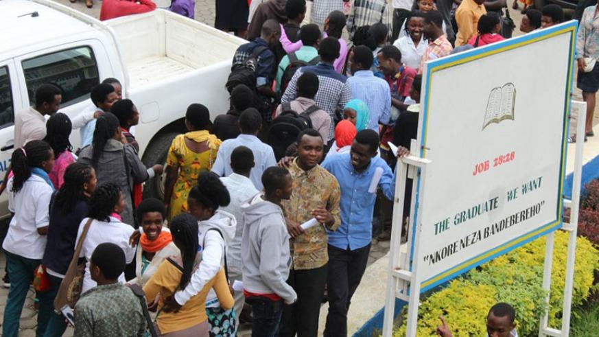 Stranded students at Gitwe University after the suspension of some academic programmes. JD Ntihinyurwa.