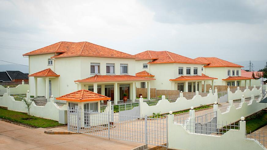 A housing estate in Kibagabaga. The Government and Development Bank of Rwanda are planning a project of constructing affordable houses for civil servants.