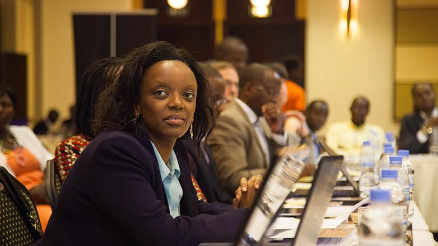 A participant at the event to mark the International Water and Forest Day in Kigali, yesterday. / Nadege Imbabazi