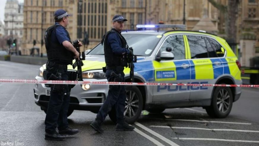 A policeman was stabbed inside the British parliament