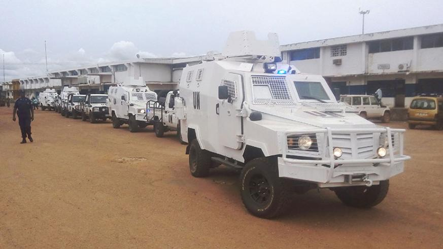Armoured personnel carriers in CAR. / Courtesy