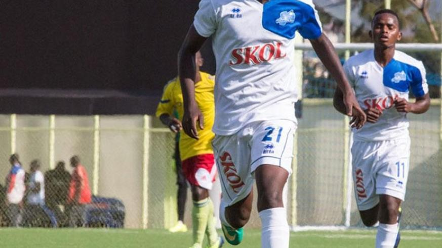 Thierry Manzi netted the lone goal as the blues beat AS Kigali 1-0 in a rescheduled match on Saturday at Stade de Kigali. File.