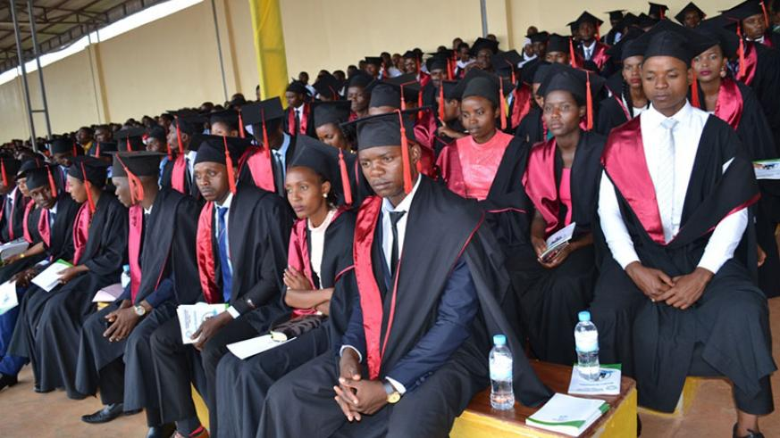 Some of the graduates during the ceremony in Ngoma District on Tuesday. / Kelly Rwamapera