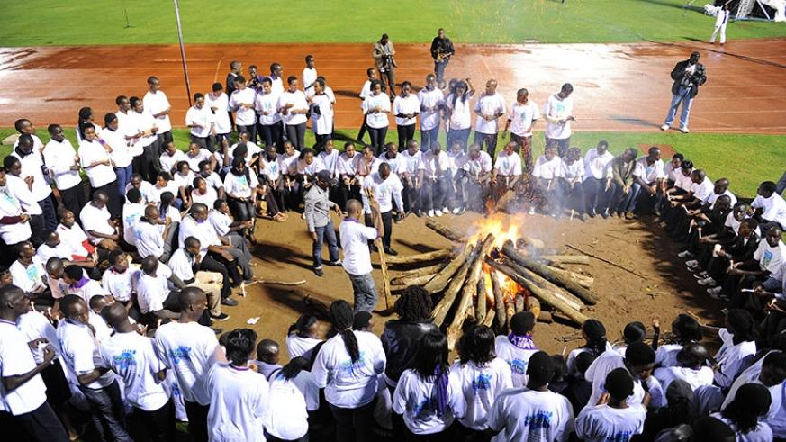 Mourners keep a vigil during a past Genocide commemoration. (File)