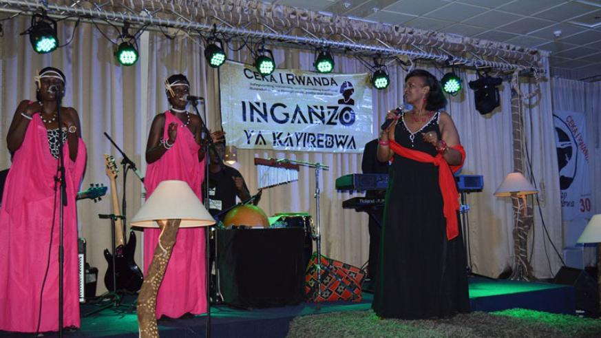 Cecile Kayirebwa and Inganzo during last year's edition. / File