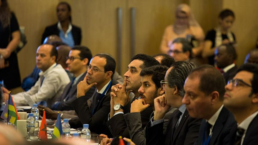 Moroccan investors follow proceedings during the meeting in Kigali. Timothy Kisambira.