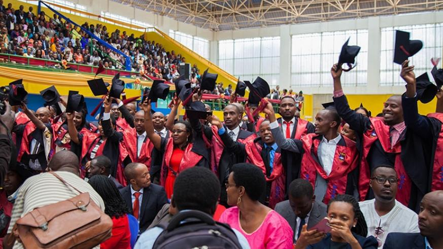 University of Kigali graduates during a past graduation ceremony. (File)