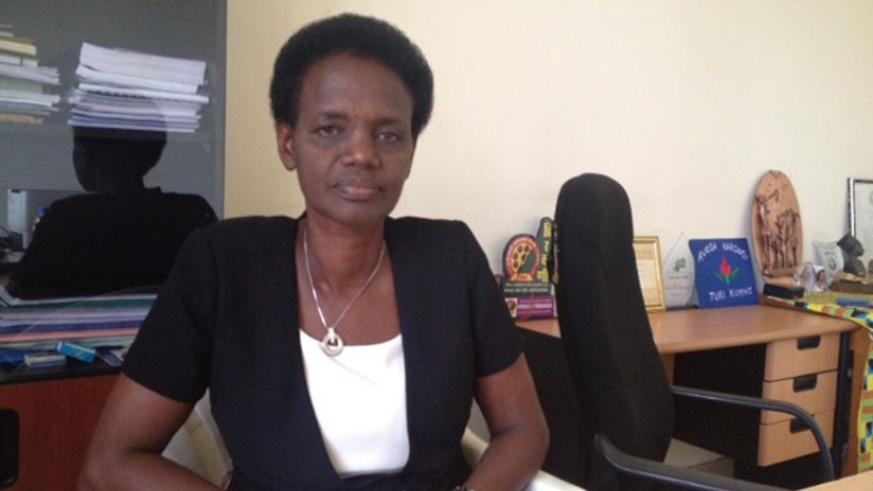 Mukabayire in her office in Kigali during the interview. (Courtesy photo)