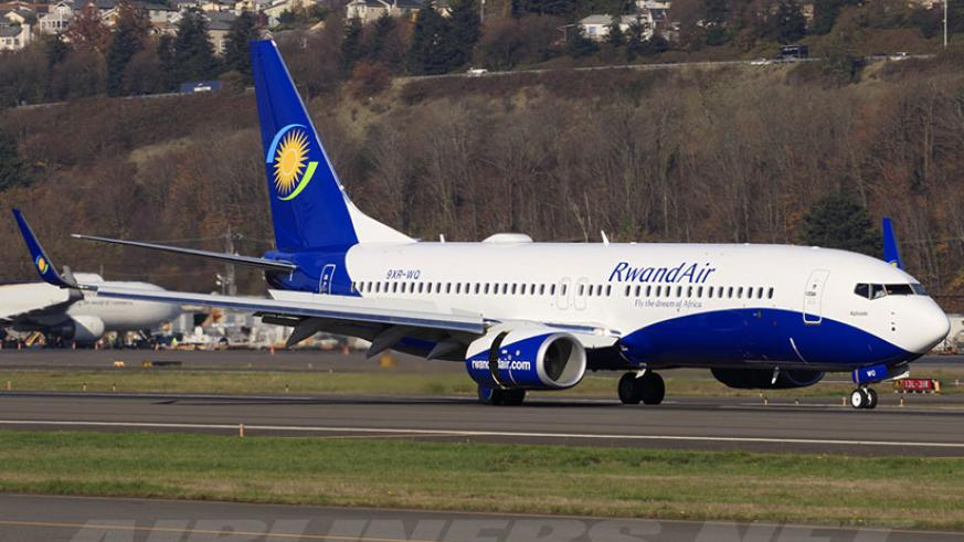 The Boeing 737-800 that made RwandAir's maiden flight to India this week. / File