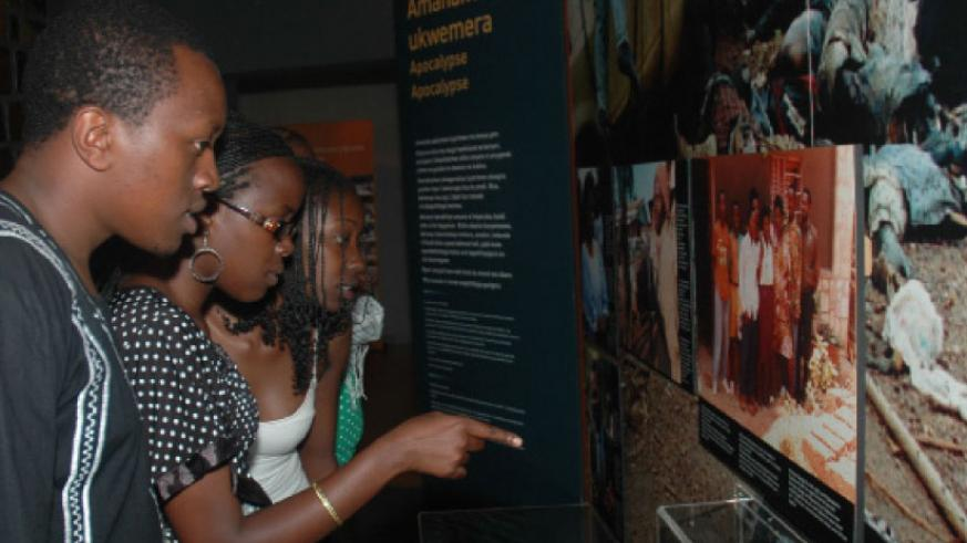Youths during a par tour of Kigali Genocide Memorial Centre, Gisozi. / File