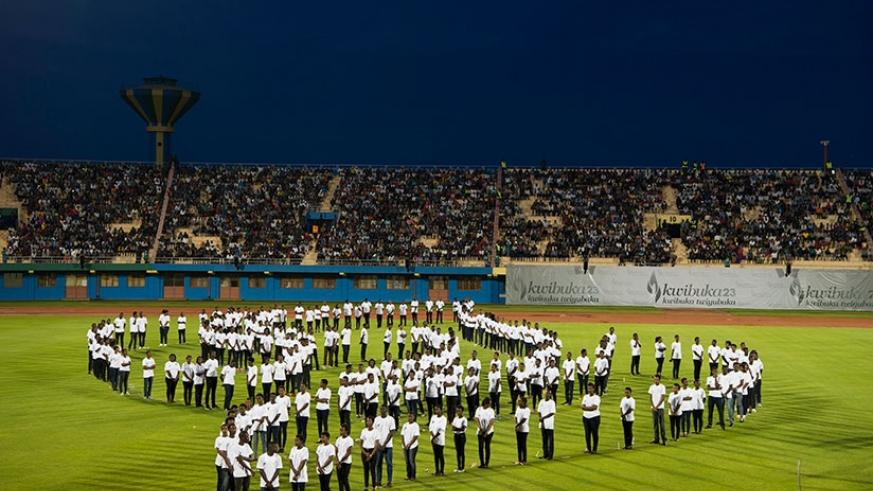 Amahoro National Stadium was at full capacity as Rwandans turned out for a night vigil to honour and remember victims of the 1994 Genocide against the Tutsi, yesterday. Village Urugwiro.