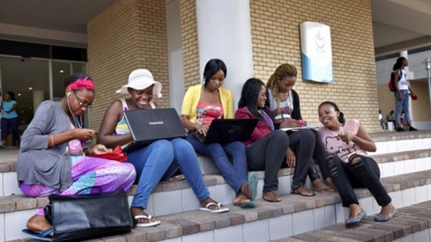 A group of students at North-West University in Gaborone, Botswana. Net photo