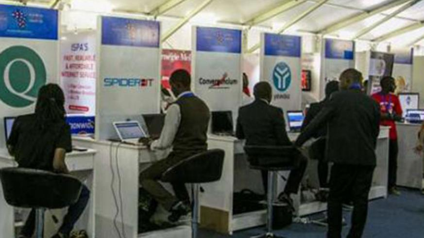 An ICT exhibition during a past Transform Africa Summit in Kigali. (File)