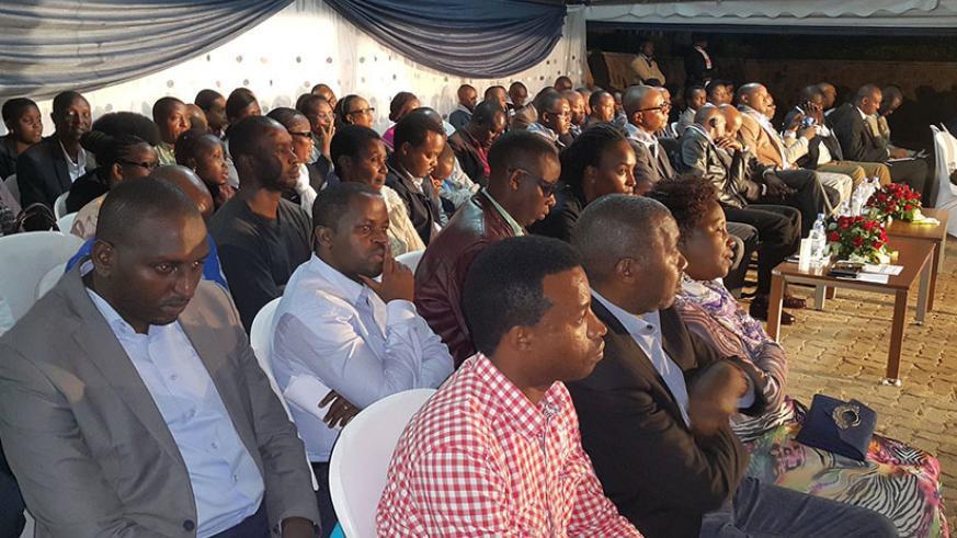 Mourners during the commemoration event in Kigali on Wednesday. / Courtesy