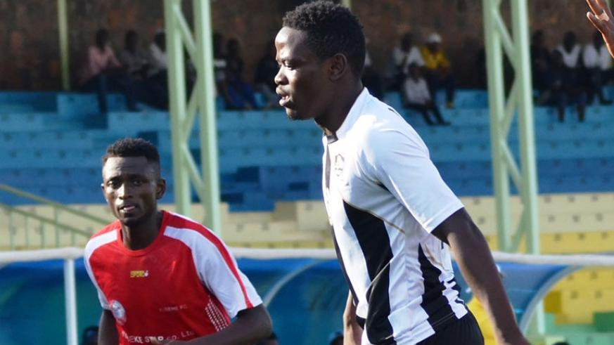 APR FC will welcome back midfielder Muhadjiri Hakizimana (R), who has been out of action since January with an ankle injury. S. Ngendahimana. File.