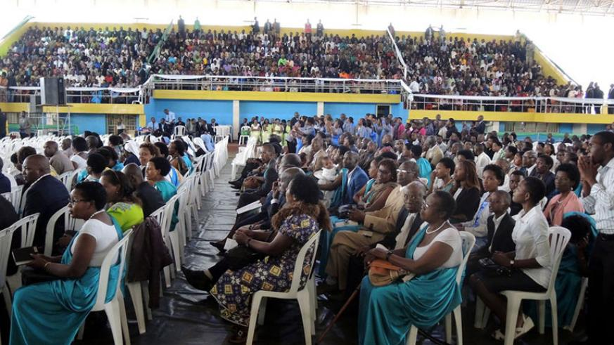 A cross-section of Rwandans during a prayer session in the past. / File