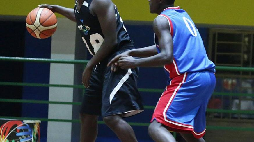 Patriots point guard Aristide Mugabe, left, will lead his team against IPRC-Kigali, who beat them 80-75 in the corresponding fixture. / Sam Ngendahimana