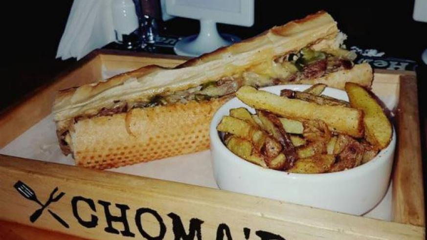 The Philly Cheese Steak at Choma'd. / Michael Bageine